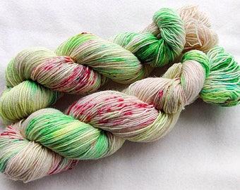 Handdyed SockYarn, 75 Wool, 25 Nylon 100g 3.5 oz. Nr. 147