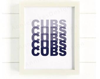Cubs Print, Chicago Cubs Print, Chicago cubs poster, go cubs go