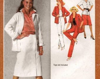 "A Raglan Long/Short Sleeve Jacket, Slim Skirt and Straight Leg Pants Pattern for Women: Uncut - Sizes 18 & 20 Bust 40""-42"" • Simplicity 9313"