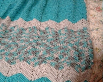 Tourquise Crocheted Afghan