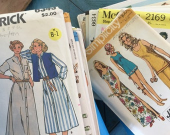 Vintage Sewing Patterns Groups of Eight Butterick McCalls Simplicity Priced to Sell