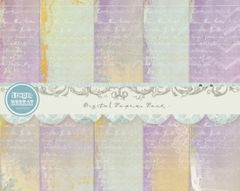 ON SALE NOW Digital Scrapbooking Papers pack, 12x 12 in 300 dpi vol.39 - Instant Download