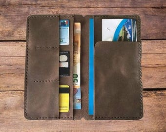 Leather Traveler's Notebook Insert, Leather Wallet Insert, Traveler's Notebook Card Pocket Insert, Leather Insert for  Regular Size Midori