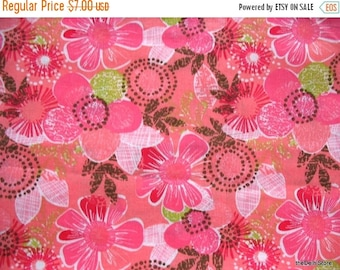 Flat 40% Off Floral Print Pure Cotton Apparal / Dress Fabric Yardage