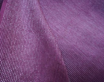Purple and Silver Lurex Cotton Semi Sheer Fabric Sold by Yard