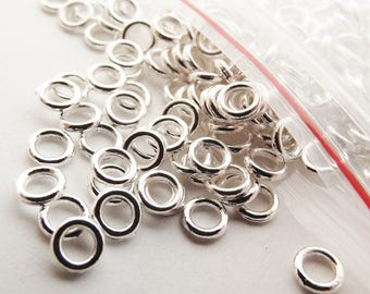 Silver plated closed jump rings