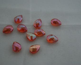Orange Aurora Borealis Crystal bead 13 * 16 mm