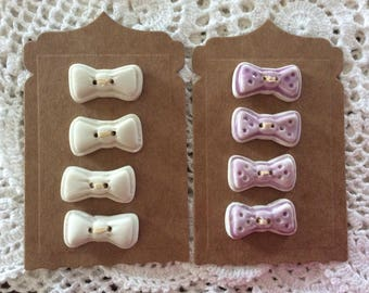 Small Bow buttons porcelain