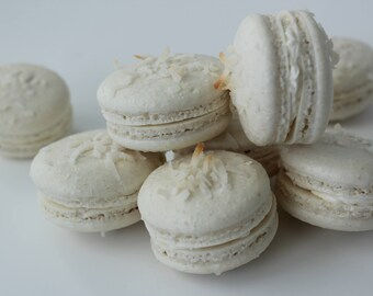 Coconut Cream Macarons