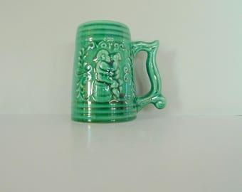 Halden Keramikk Norway Beer Mug - Green ceramics Vase Viking style Modern Nordic
