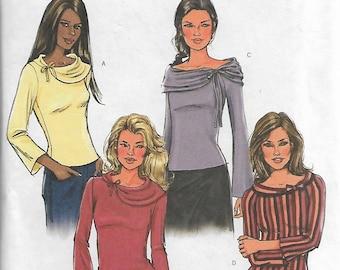 Butterick B4230 Size L-XL Bust 38-40-42-44 Misses'/Misses' Petite Top Sewing Pattern 2004 Uncut