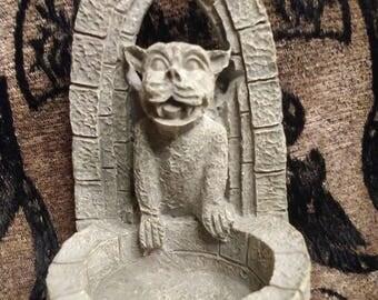 Small Gargoyle Statute Bowl