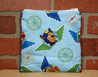 One Sandwich Bag, Reusable Lunch Bags, Waste-Free Lunch, Machine Washable, Paw Patrol, Sandwich Sacks, item #SS76