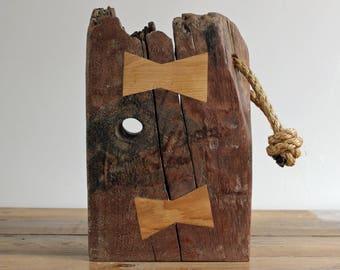 Driftwood Doorstop Rustic Wooden Door Stop with Rope Handle (D17/6)