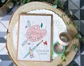 Carte Postale à planter : Merci - Maitresse, atsem, nounou  cadeaux fin d'année- papier ensemencé - cadeau maitresse - cadeau écologique