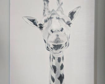 Original Giraffe Oil Painting