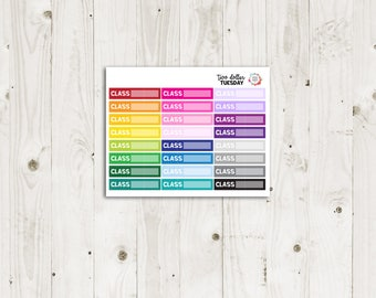 Two Dollar Tuesday Class Labels - ECLP Stickers