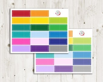 Stitched Box Label Planner Stickers  - ECLP Sticker