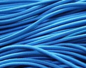 5 meters of cord turquoise elastic