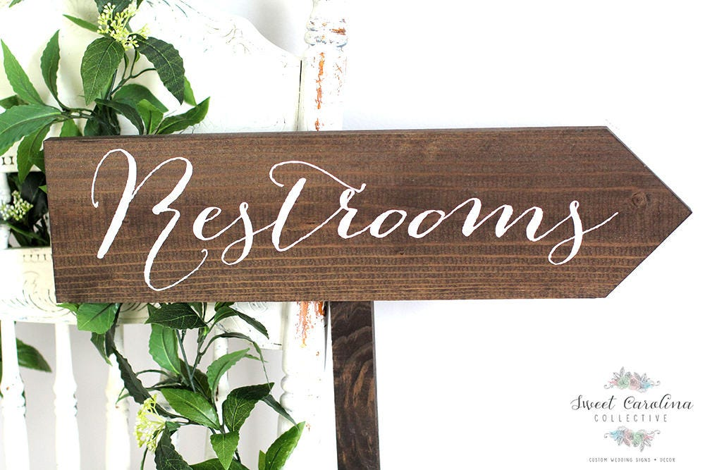 Wedding Sign Restroom Outdoor Wedding Signs Wedding Signs