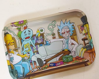 """13"""" x 9"""" Rick and Morty Rolling Tray"""
