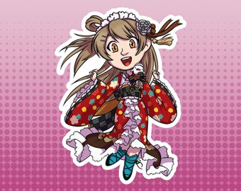 LLSIF Love Live School Idol Festival / School Idol Project - Kotori Minami Taisho Roman Large Die Cut Vinyl Fan Art Sticker