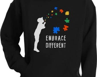 Embrace Different - Autism Awareness Hoodie