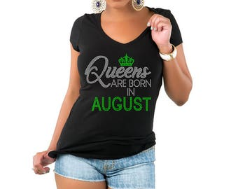 Rhinestone Bling Queens are Born in T-Shirt