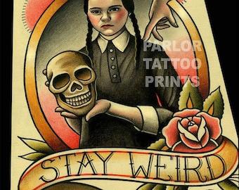 Wednesday Addams Tattoo Flash Adams Family Art