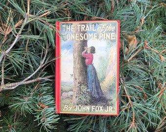Antique Book * The Trail of the Lonesome Pine * John Fox Jr * Cabin Decor