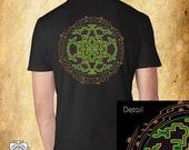 Flower of life Ancient , Mens t shirt , sacred geometry , Festival t shirt , shipibo clothes , sacred art , hippie t shirt , street wear , p