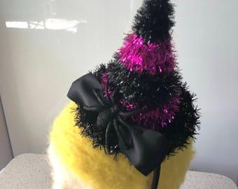 Mini witch hat headband fascinator