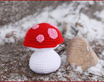 Crocheted Mushroom Amigurumi Stuffed Toy Ready to Ship