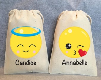 "14-  Emoji party, Emoji party supplies, Emoji Birthday, Emoji party favors, emoji favor bags, emoji party favor bags- emoji- 5""x8"""