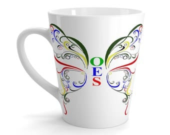 OES Butterfly Latte coffe Mug