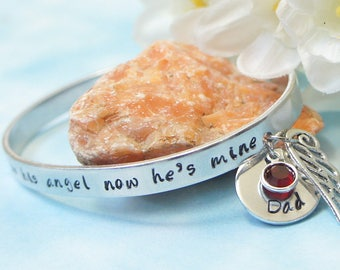 I used to be his angel now he's mine-Father Loss. Memorial Jewelry. Rememberance Jewelry. Daddy's Girl. Sympathy Gift. Funeral Gift.