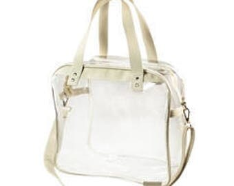clear carryall tote monogrammed or not