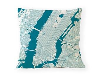 NEW YORK Map, Throw Pillow New York Home Decor Cushion Cover, custom pillow cover, New York Gift, anniversary gift, custom wedding pillow