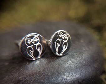 Sterling Silver Owl Stud Earrings - Available with Birds, Owls and Other Animals
