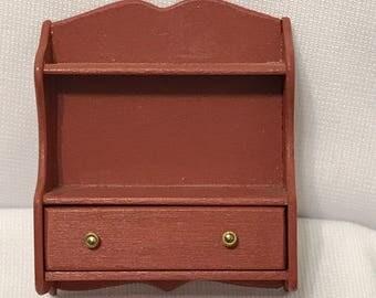 "Dollhouse Miniature Shelf 1"" Scale 1989. (BD)"