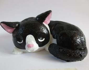 Black and White Cat Squishy
