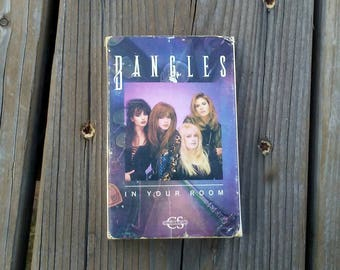 Bangles Cassette Tape In Your Room Single Release 1988 In Your Room and Bell Jar CBS Records 1980s Music