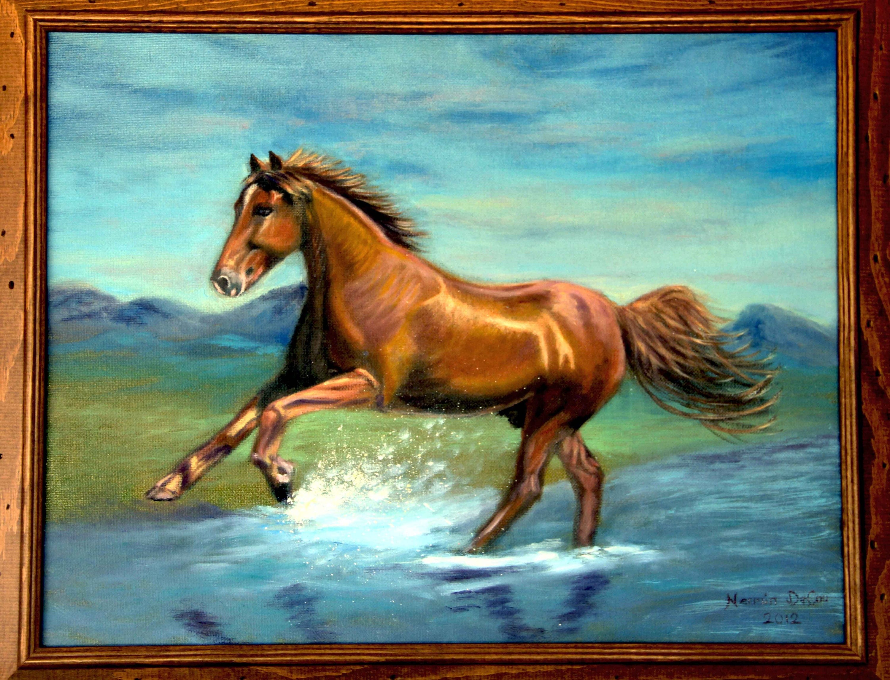 Horse Painting Horse Oil Painting Horse Wall Art Horse