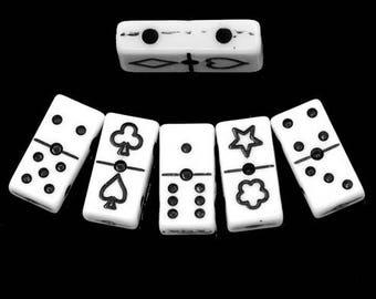 set of 5 dominoes, 20 * 10mm beads