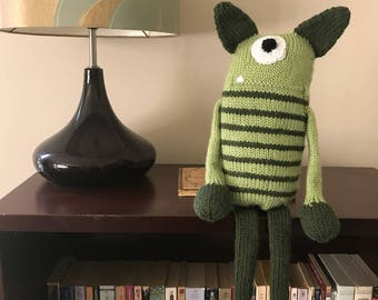 Striped Monster Stuffed Toy
