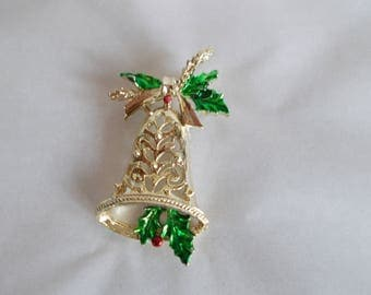 Vintage Gerry's Christmas Bell Brooch //26