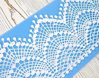 Large Lace Molds Fondant Mold L002 Flexible Silicone Lace Mat Silicon Lace Mold Cake Lace