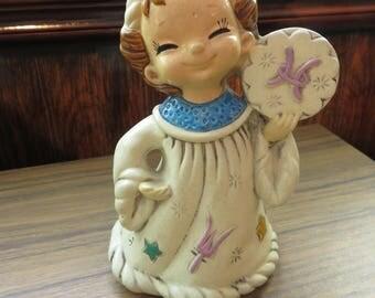 Vintage Josef Originals Wizard Zodiac Pisces Figure Figurine Japan