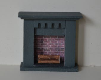 Quarter Inch scale Fireplace