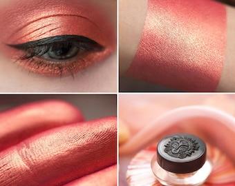 Eyeshadow: Sweet Tooth - Mermaid. Warm orange-pink satin eyeshadow by SIGIL inspired.